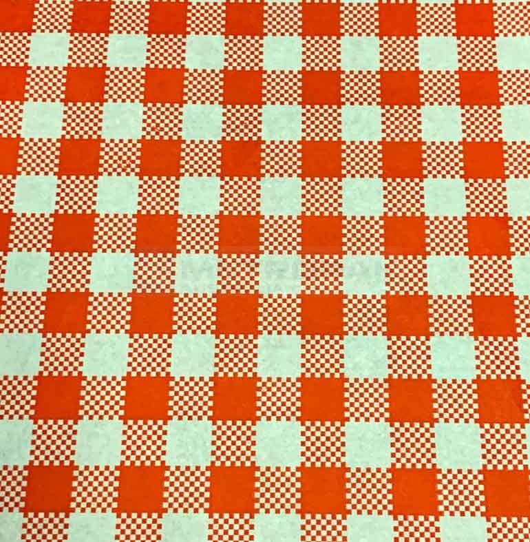 Greaseproof Paper Gingham Red Food Wrap Food Packaging
