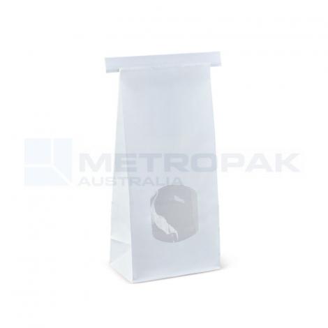 Window Tin-Tie Bag White - Medium