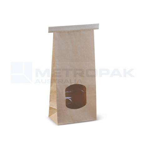 Window Tin-Tie Bag Brown - Medium