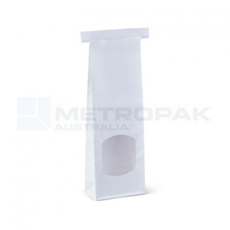 Window Tin-Tie Bag White - Small