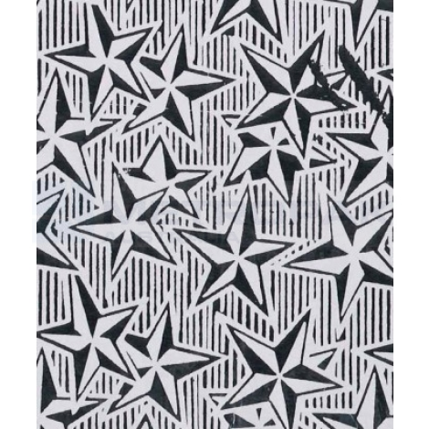 Chocolate Foil - White Stars