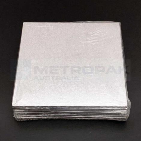 """Masonite Silver 10"""" Square"""