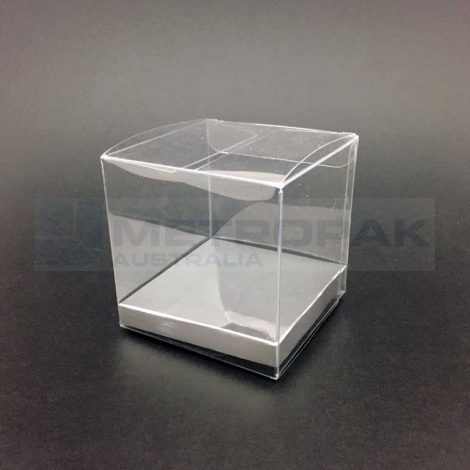 PVC Short box 12x8cm - Silver Base