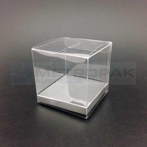 PVC Cube 9cm - Silver Base