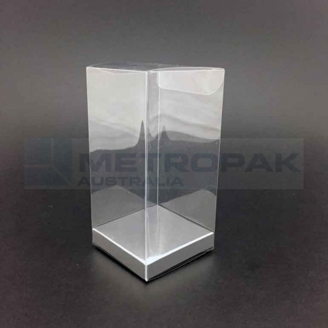 PVC Tall Box 10x12cm - Silver Base
