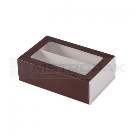 Dozen Macaron Chocolate Brown