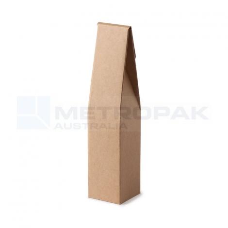 Wine Box - 1 Bottle Gable Top - Kraft