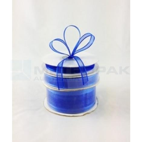 Ribbon 10mm x 22mtrs Satin Edge Royal Blue