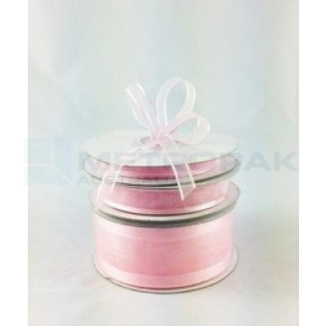 Ribbon 15mm x 22mtrs Satin Edge Light Pink