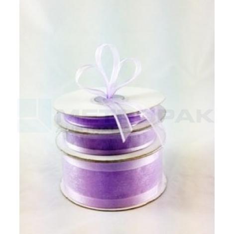 Ribbon 38mm x 22mtrs Satin Edge Lilac