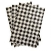Greaseproof paper - Gingham Black