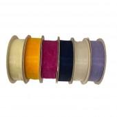 Ribbon Organza Woven Edge - CREAM (CLEARANCE)