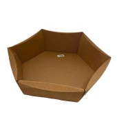 Hamper  Hexagonal Basket - Corrugated Kraft