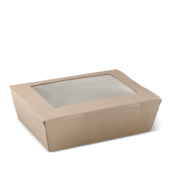 Lunch Box Window Large - Kraft