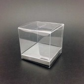 PVC Short box 8x6cm - Silver Base