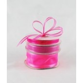 Ribbon 10mm x 22mtrs Satin Edge Organza - Hot Pink
