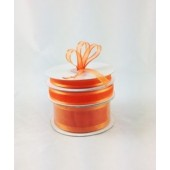 Ribbon 10mm x 22mtrs Satin Edge Organza - Orange