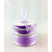 Ribbon 10mm x 22mtrs Satin Edge Lilac