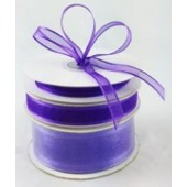 Ribbon 10mm x 22mtrs Satin Edge Violet