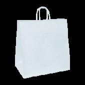 Carry Bag - Twist Handle - White - Jumbo