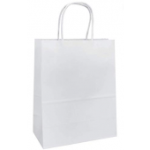 Carry Bag - Twist Handle - White - Baby